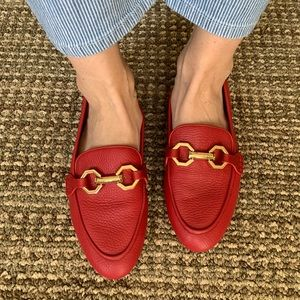 """""""Louise et Cie"""" Red Leather Loafers Sz 8.5"""